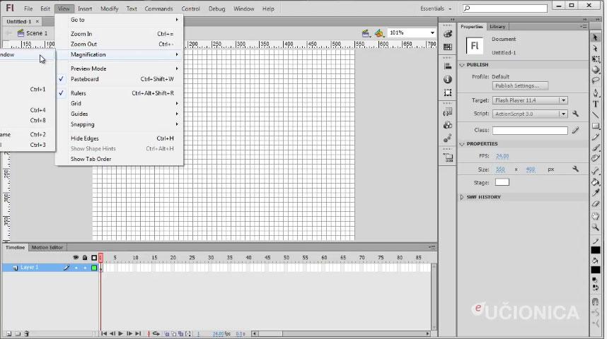 Adobe Flash CS6 – Korisničko okruženje