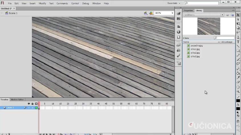 Adobe Flash CS6 – Vremenska linija