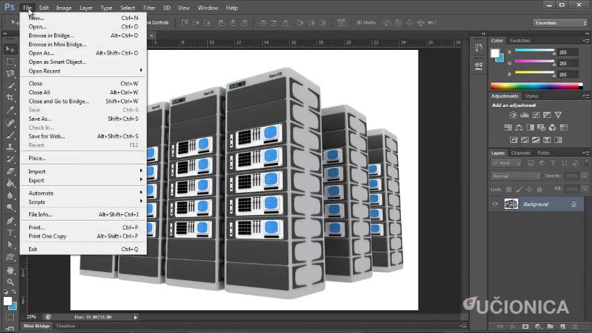 Adobe Photoshop CS6 – Korisničko okruženje