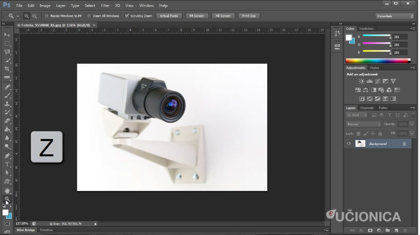 Adobe Photoshop CS6 – Zoom alat