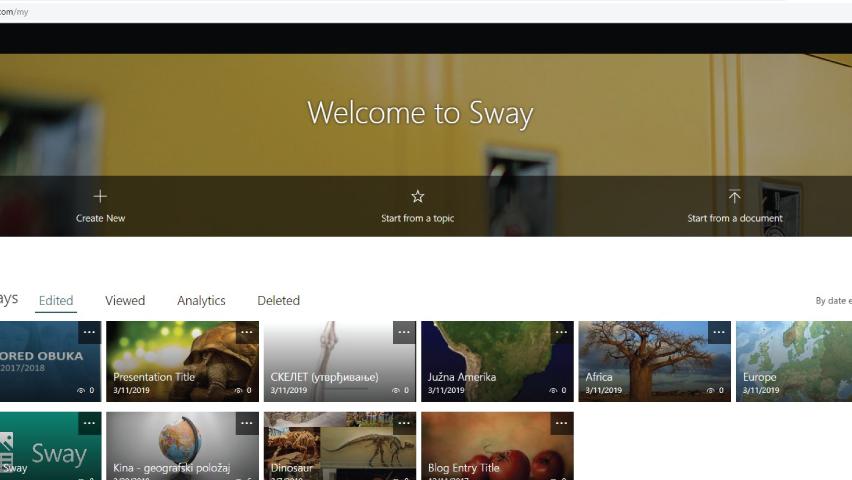 Microsoft Sway – načini izrade prezentacija