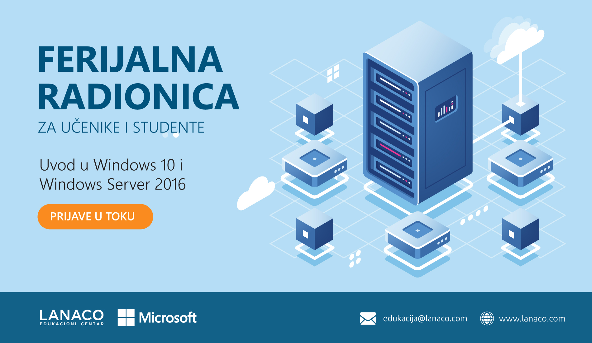 Ferijalna radionica – Windows 10 i Windows Server 2016